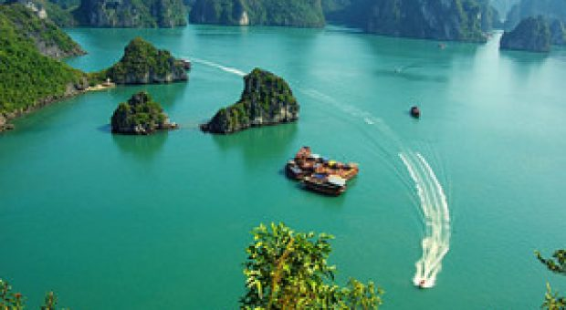 The geological formation of Halong Bay