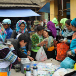 Muong Hum market Sapa - Buying & Selling