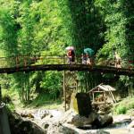 Cat Cat village Sapa - Bridge to reach Waterfall