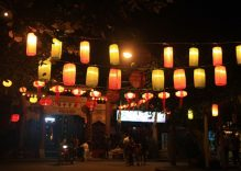 Lighting up lanterns for Tet
