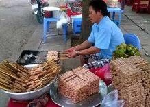 Savoring Ninh Hoa pork skewers