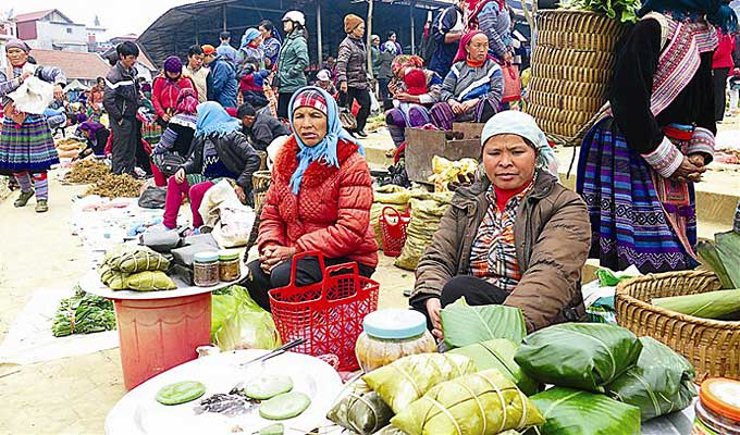 Banh giay of Nung ethnic people in Lao Cai