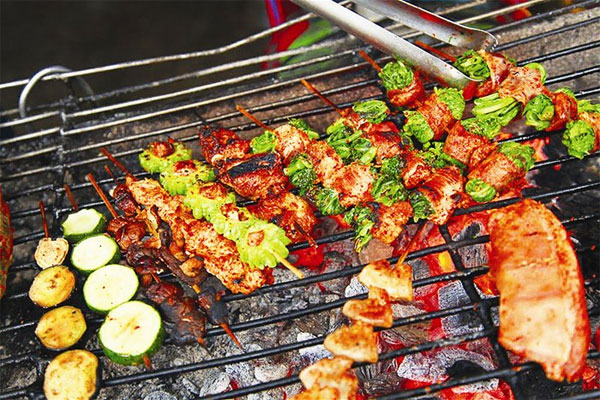 Grilled skewered food is a special treat of Sapa